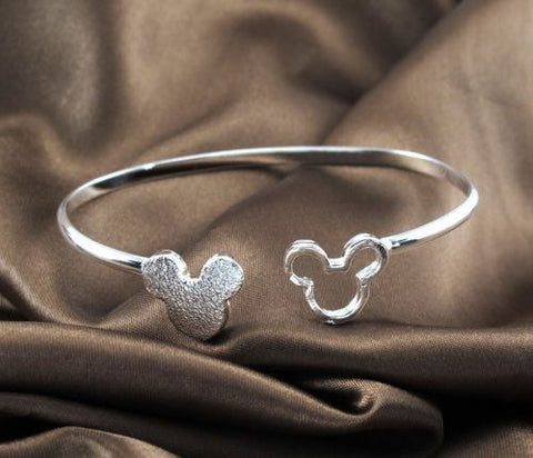 Mickey Mouse Thick Charm Cuff Bracelet
