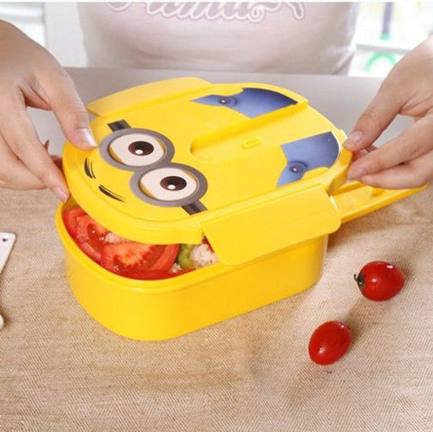 Minion Lunch Box With Spoon