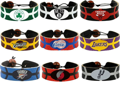 NBA Leather Basketball Bracelet