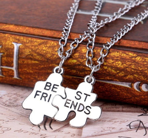 Necklace - 2 Piece Best Friends Geometric Puzzle Necklace Pendant