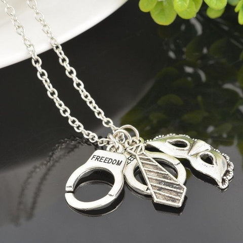 Necklace - 50 Shades Of Grey Silver Necklace