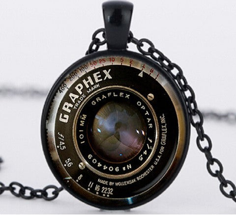 Necklace - Camera Lens Glass Pendant Necklace