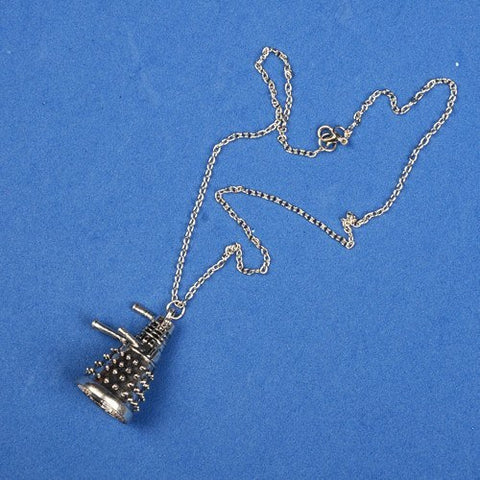Necklace - Doctor Who Dalek Robot Silver Pendant & Chain Necklace