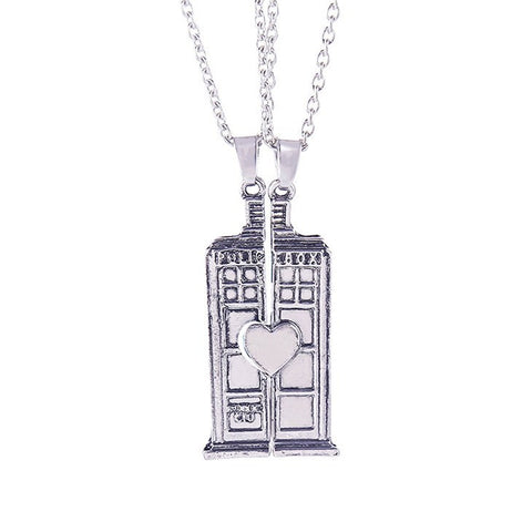 Necklace - Doctor Who Tardis Double Heart Necklace