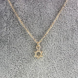 Necklace - Fashion 18K Gold Filled Hexagram Jewish Star Charm Pendant Choker Necklace