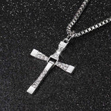 Necklace - Silver And Gold Dom Toretto Cross Necklace