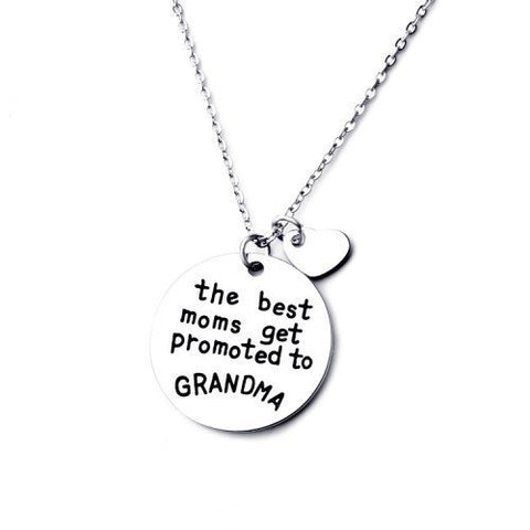 Necklace - Special Offer - The Best Moms Get Promoted To Grandma Necklace