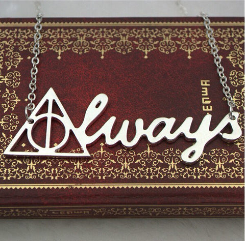 Necklace - Vintage Harry Potter Deathly Hallows ALWAYS Pendant Necklace