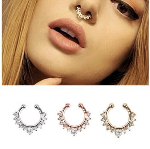 Nose Ring - NEW ALLOY SEPTUM NOSE RINGS - NO PIERCING REQUIRED