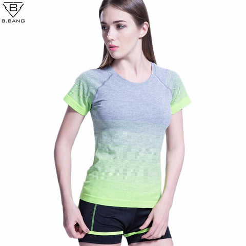 Nature Green Short Sleeved Quick Dry Exercise Tee Tops
