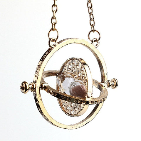 Pendant - Hermione Time Turner Pendant & Hallows Snitch Angel Wings Bracelet