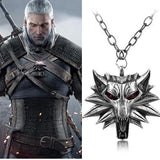 Pendant - The Witcher Geralt Of Rivia Medallion Wolf Head Pendant Necklace Chain Metal New