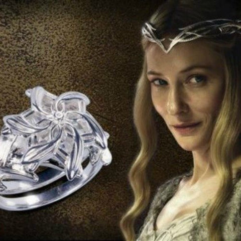 Queen Galadriel Crystal Flower Ring