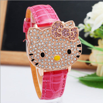 Crystal Hello Kitty Wristwatches