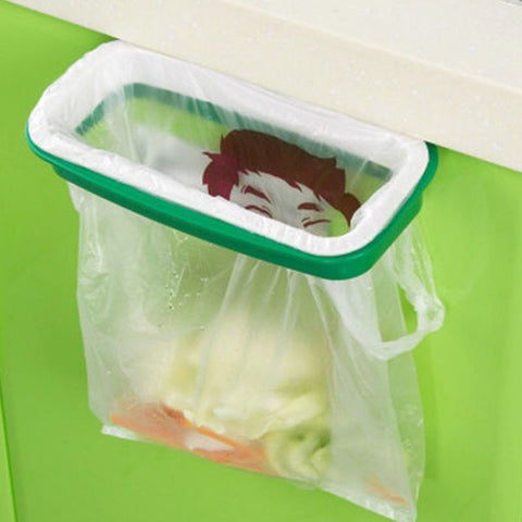 Garbage Trash Bag Rack Attach Holder Cabinet Cupboard Portable