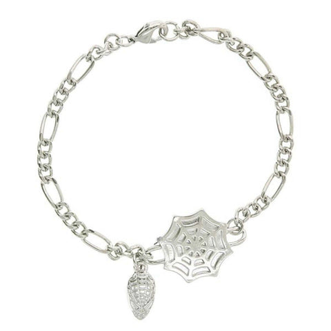 Spiderman Head & Web Bracelet
