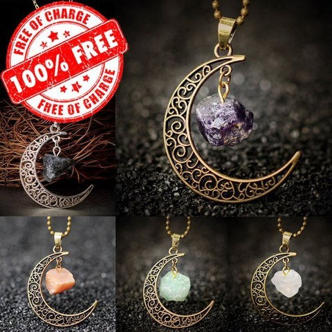 Stone Moon Necklace
