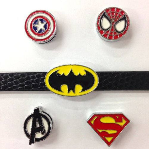 Superhero Slide Charm Wristband
