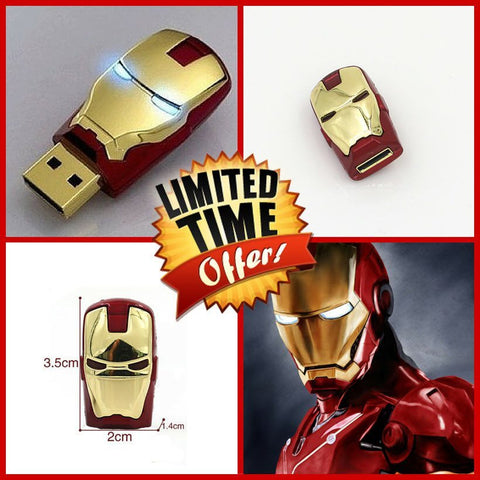 USB Drive - Iron Man USB Flash Drive