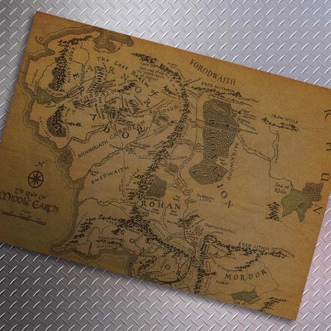 Vintage Map - VINTAGE LOTR MIDDLE EARTH MAP