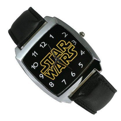 Watch - Star Wars Black Leather Band Fashion Boy Man Wrist Steel Watch