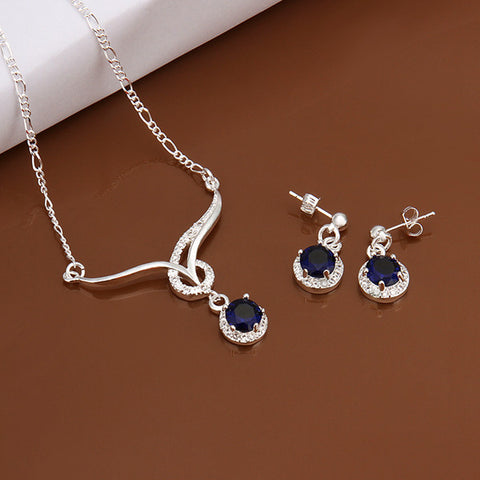 Crystal Necklace and Earrings Jewelry Sets