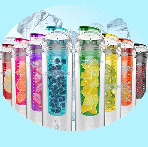 Yoga - 800ml High Quality Sports Fruit Infuser Water Bottle - 100% BPA Free