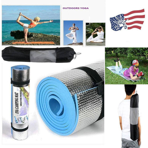 Yoga - Premium Blue Thick Yoga & Pilates Mat + Bag