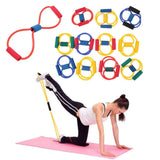 Yoga - Yoga And Pilates Premium Quality Tube Resistance Bands - Random Color