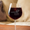 Image of Couples Love Wine Glass
