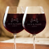 Image of Lovebirds Couple Wine Glass