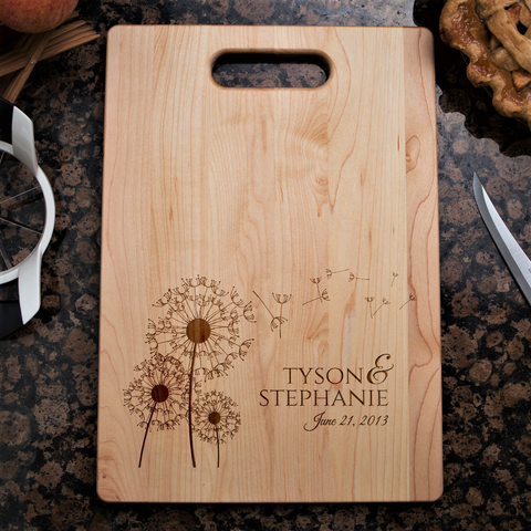 Couples Love Cutting Board - Dandelion