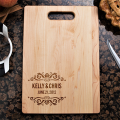 Couples Cutting Board - Floral