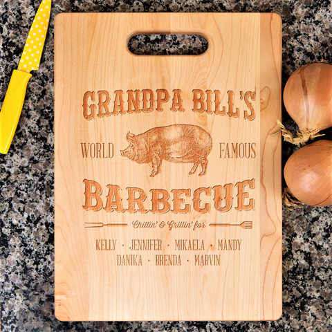 Grandpa World Famous Barbecue Cutting Board