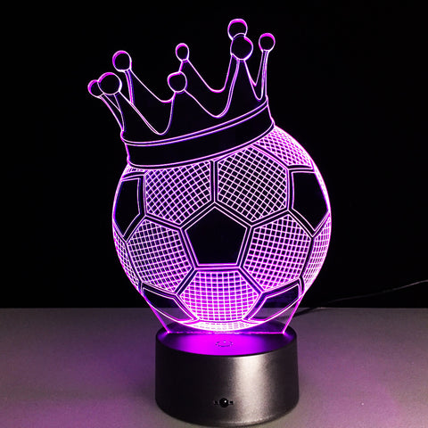 Soccer Princess Ball 3D LED Lamp