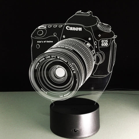 Limited Offer: Camera 3D Illusion Lamp