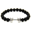 Image of Buy One Get One Free: Black Matte Dumbbell Bracelet