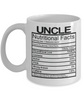 Image of Uncle Nutritional Facts Mug