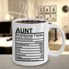 Aunt Nutritional Facts Mug