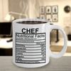 Image of Chef Nutritional Facts Mug