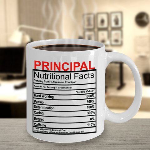 Principal Nutritional Facts Mug