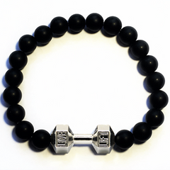 Buy One Get One Free: Black Matte Dumbbell Bracelet