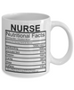 Image of Nurse Nutritional Facts Mug