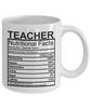 Image of Teacher Nutritional Facts Mug