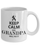 Image of Keep Calm Grandpa Mug