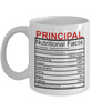 Image of Principal Nutritional Facts Mug