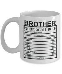 Brother Nutritional Facts Mug