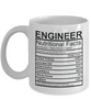 Image of Engineer Nutritional Facts Mug