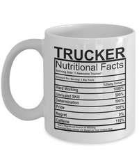 Trucker Nutritional Facts Mug