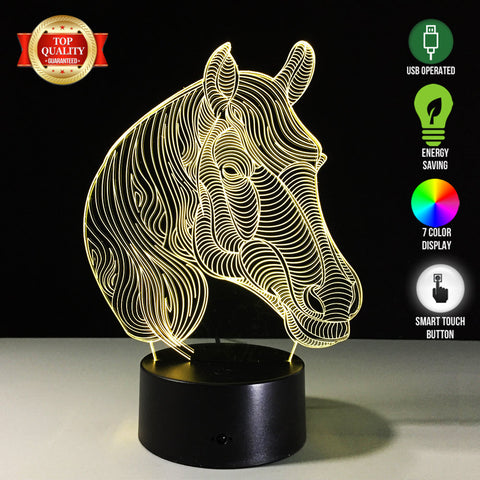 Limited Offer: Horse 3D LED Lamp
